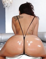 Oiled up Latina got fucked